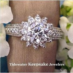 Serenade Diamonds Snowflake Diamond Ring 175001 45 Engagement