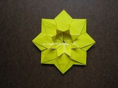 Origami Modular Sunflower Step by Step Instructions