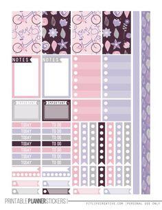 Love Purple Planner Stickers