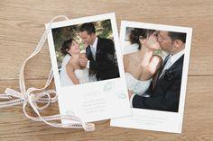 carte de remerciement mariage Envolée by Mr & Mrs Clynk - pour www.fairepart.fr Mr Mrs, Save The Date, Wedding Invitations, Photos, Polaroid Film, Inspiration, Bb, Wedding Ideas, Create Photo Album