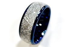 $220 Blue Tungsten Wedding Bands Tungsten Rings by RingsParadise