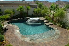 Here are 40 Amazing Backyard Pool Ideas Incredible Pool Designs That Will Make A Splash In Your Backyard Landscaping. tags: backyard ideas, swimming pool design, backyard pool ideas on budget, small backyard pool, backyard pool lanscaping. Pools For Small Yards, Small Swimming Pools, Small Backyard Pools, Backyard Pool Designs, Swimming Pool Designs, Pool Landscaping, Outdoor Pool, Small Backyards, Backyard Ideas