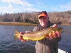 Bill rewarded with his first White River brown trout Ben Levin pic