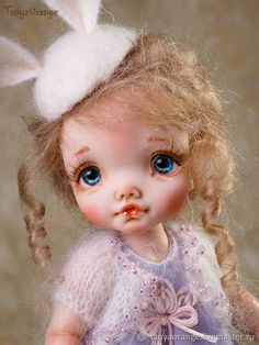 Dolls of Polimer clay, Lila 19cm – shop online on Livemaster with shipping