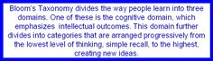 bloom's taxonomy/critical thinking questions