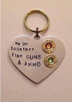 Guns and ammo keychain $25 includes couples birthstones!