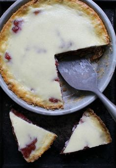 The tart rhubarb with a hint of sweetness and oatmeal texture makes a delicious dessert from Dinner with Julie.