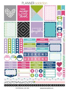 10 Pretty Planner Printables Hi friends! Alicia here from Sew What Alicia. I am a huge planner and I love making my planner pretty! Here are some pretty planner printables that you can use to add some To Do Planner, Free Planner, Planner Pages, Happy Planner, 2015 Planner, Blog Planner, Printable Planner Stickers, Free Printables, Planner Organization