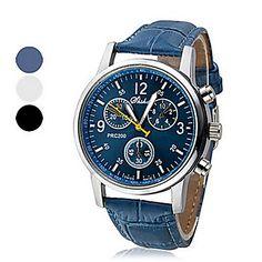 Reloj de Muñeca Analógico Unisex con Corona Redonda - USD $ 3.99