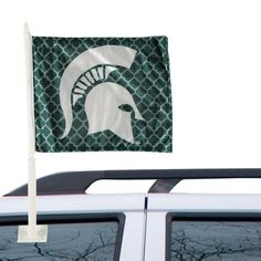 best service 5c647 f0912 Michigan State Spartans Quatrefoil Double-Sided Fashion Car Flag Car Flags,  Quatrefoil, Michigan