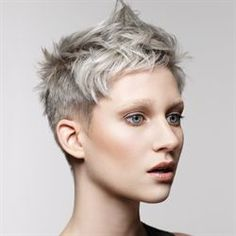 Hairstyles For Winter Subtle Silver Hair Color Trend for New Color Di … Short Hair Cuts For Women, Short Hairstyles For Women, Hairstyles 2016, Pixie Hairstyles, Hairstyles Pictures, Medium Hairstyles, Short Cuts, Short Shaggy Haircuts, Super Short Hair