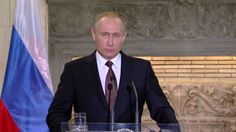 Russia's President Vladimir Putin has said Russia might be forced to respond to US moves in Europe. Bbc News, Presidents, Russia, Suit Jacket, Youtube, Prayers, Universe, Military, Cosmos