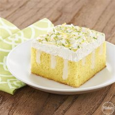 Enjoy the flavors of Spring with this recipe for Lemon-Lime Cake! This poke cake with frozen whipped topping is an easy dessert for any occasion!