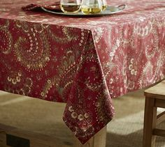 Chalet Paisley Tablecloth #potterybarn