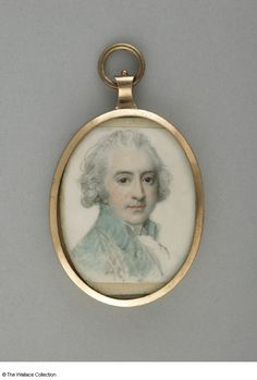 Portrait of unknown man, miniature by Richard Cosway. Watercolor on ivory. (1790)