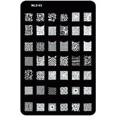 Kaifina Nail Art Stamp/Stamping/Stamper Image Template Plate Nail Stencils/Molds for Acrylic Nail Tips MLS Series * Visit the image link more details.