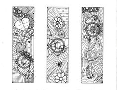Color Your Own BOOKMARKS/ Pdf Instant Download / by PrairieLoops