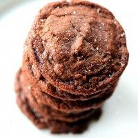 Nutella Cookies with Sea Salt