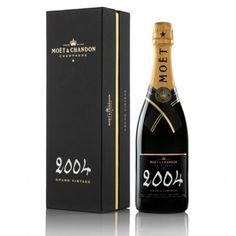 Moët & Chandon Grand Vintage Champagne (Engraved Champagne Bottle): Accolades well-deserved for this fine vintage. Salute! spiritedgifts.com