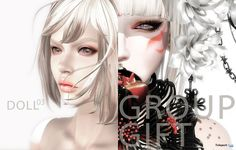 Fantasy White Mesh Eyes Group Gift by hsh