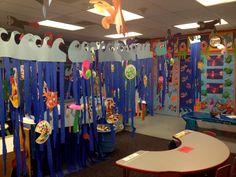 Preschool Art, Preschool Open Houses, Ocean Projects, Ocean Activities, Ocean Unit, Under The Sea Theme, Sea Crafts, Oceans Of The World, Vacation Bible School