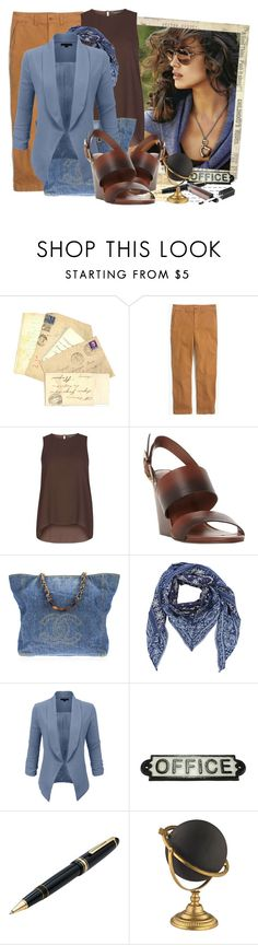 """3/4 Sleeve Open Blazer Jacket"" by tasha1973 ❤ liked on Polyvore featuring Madewell, Dorothy Perkins, Dune Black, Chanel, Diesel, LE3NO, HomArt and Mont Blanc"