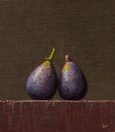 """Two Figs    (24-hour Auction)"" - Original Fine Art for Sale - © Abbey Ryan"