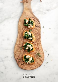 kale & white bean crostini