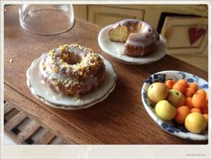 Sweet Cake With Dried Apricots and Walnuts Frosting- Dollhouse Miniature Food. €8.00, via Etsy.
