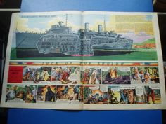 EAGLE-CUTAWAY-DRAWING-18-9-1953-H-M-S-MAIDSTONE-SUBMARINE-DEPOT-SHIP-VGC