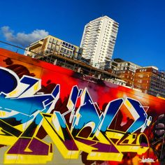 Graffiti on Brighton seafront.. #ilovebrighton #sunsets #graffiti #brighton #ruins #westpier #history #coast #sea #attraction #pier #city #buildings #architecture #southeast #sussex #travel #uk #bluesky #clouds #cloudscape #beautyspot #nationaltrust #countryside #nature #visitengland #view #contrast