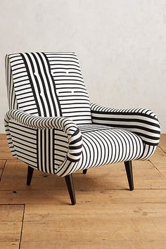 #stripes on stripes <3 Striped Losange Chair - anthropologie.com