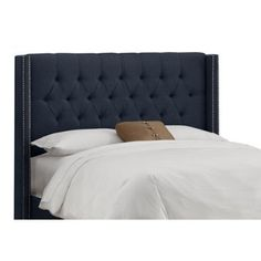 Check out this item at One Kings Lane! Monroe Wingback Headboard, Navy