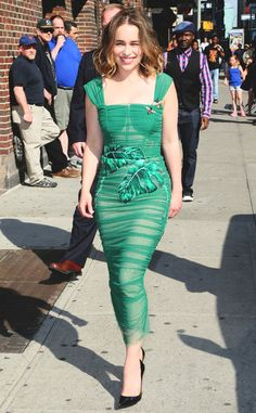 All Wrapped Up from Emilia Clarke's Pre-Emmys Outfits  Emilia Clarke's off…