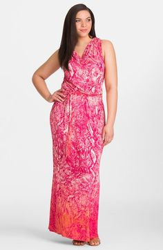 3304747d595 Mynt 1792 Ombré Print Sleeveless Cowl Neck Maxi Dress (Plus Size) available  at