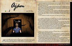 1ºpágina del relato Ajam. Con banda sonora y disponible para descargar GRATIS TE DIGO.