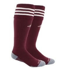 e46f15c60 ADIDAS Men's Copa Zone Cushion Climalite Athletic Burgundy Socks Size M NEW  #adidas #adidasosccer