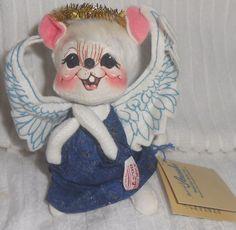 "ANNALEE DOLLS 1998 98 Angel Mouse Blue Dress Halo Christmas Holiday Nativity 6"" #Annalee #Dolls"