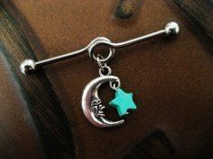 Moon and star barbell! So cute!