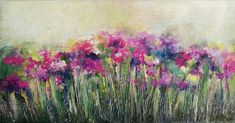 Acrylic abstract florals on canvas. Original painting by Nurten Koçboğan