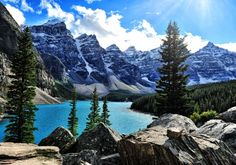 Moraine Lake in Banff National Park.....