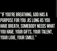 God has a purpose for u