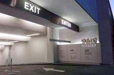 9601 Wilshire | Carpark Entrance Signage