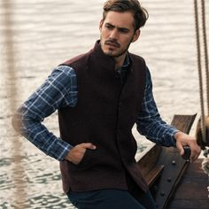 Now is the perfect time to make the most of the longer evenings. This indulgent handwoven, merlot coloured herringbone gilet is perfect for keeping you warm while you enjoy the outdoors. Navy Chinos, Donegal, Weekend Wear, Herringbone, Tweed, Hand Weaving, Outdoors, Seasons, Warm