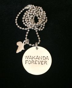 Black Panther Wakanda Forever necklace #blackpanther
