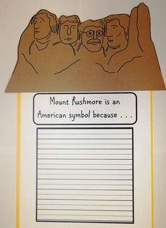 Mount Rushmore craft to use with your American Symbols Unit