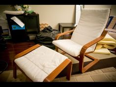 Tips in cleaning and refitting the foam into the Ikea Poang chair