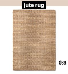 Basket Weave Woven Area Rug … curated on LTK