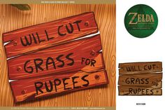 Zelda Party 8x10 Signs -  Printable Party Decorations PERSONALIZED