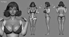 ArtStation - 3D sculpt based on a concept by South korean artist Kilart , Pierre Benjamin